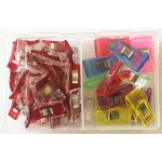 Quilt Clips, 30 Small & 15 Medium in Storage Box by Vicsew Wonder Clips & Hem Clips