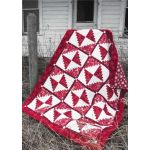 Candy Cane Cabin Cut Loose Press Pattern by Quiltworx Cut Loose Press Patterns