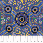 Sacred Woman's Song Blue Australian Aboriginal Art Fabric by Faye  Oliver by M & S Textiles Cut from the Bolt - OzQuilts