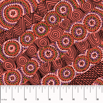 Salt Lake Red Australian Aboriginal Art Fabric by Heather Kennedy by M & S Textiles Cut from the Bolt - OzQuilts