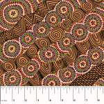 Salt Lake Yellow Australian Aboriginal Art Fabric by Heather Kennedy by M & S Textiles Cut from the Bolt - OzQuilts