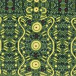 Water Dreaming in Green Australian Aboriginal Art Fabric by  Audrey Napanangka by M & S Textiles Cut from the Bolt - OzQuilts