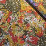 Bush Sweet Potato in Gold Australian Aboriginal Art Fabric by Audrey Martin Napanangka by M & S Textiles Australian Aboriginal Art Fabrics - OzQuilts