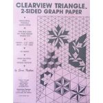 Clearview Triangle 2 sided graph paper by C&T Publishing Graph Paper - OzQuilts
