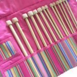 "Clover Getaway Takumi Bamboo 9"" Knitting Needle 7 Piece Gift Set"
