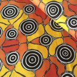 Grandmothers Journey in Yellow Australian Aboriginal Art Fabric by Marie Napurulla by M & S Textiles Cut from the Bolt - OzQuilts
