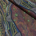 Sandy Creek Red Australian Aboriginal Art Fabric by Janet Long Nakamarra by M & S Textiles Cut from the Bolt - OzQuilts