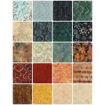 "Timeless treasures Judy Niemeyer Tonga Antique Batik 10"" Squares (20) by Timeless Treasures 10"" Squares - OzQuilts"