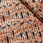 "Aboriginal Art Fabric 10 pieces 10"" Squares Layer Cake Pack - Orange by M & S Textiles 10"" Squares - OzQuilts"
