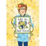 Life is Sew Good Greeting Card with Envelope by  Greeting Cards - OzQuilts