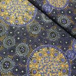 "Aboriginal Art Fabric 10 pieces 10"" Squares Layer Cake Pack - Purple, Black & Orange by M & S Textiles 10"" Squares - OzQuilts"