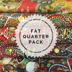 Aboriginal Art Fabric 5 Fat Quarter Bundle - Green & Red by M & S Textiles Fat Quarter Packs - OzQuilts