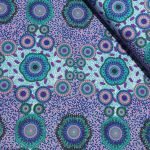 "Aboriginal Art Fabric 10 pieces 10"" Squares Layer Cake Pack -  Purple & Green by M & S Textiles 10"" Squares - OzQuilts"