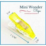 "Mini Quilter's Wonder Clips with 1/8"" nose - 25 Yellow Mini Clips by  Wonder Clips & Hem Clips - OzQuilts"