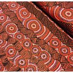"Aboriginal Art Fabric 10 pieces 10"" Squares Layer Cake Pack - Black, Red & Yellow by M & S Textiles Australian Aboriginal Art Fabrics - OzQuilts"