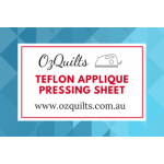 "Transparent White Teflon Coated Applique Pressing Sheet in a Storage Tube 40cm x 50cm - 15"" x 19"" by OzQuilts Applique Pressing Sheets - OzQuilts"