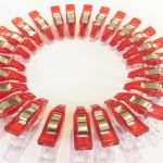 "Mini Quilter's Wonder Clips with 1/8"" nose - 25 Red Mini Clips by OzQuilts Wonder Clips & Hem Clips - OzQuilts"