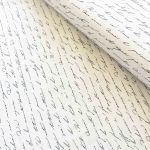 Vintage White Script fabric by  Quilting Cotton Fabrics - OzQuilts