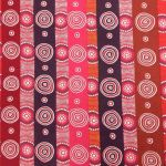 Desert Flowers Pink Australian Aboriginal Art Fabric by Marie E Ellis by M & S Textiles Cut from the Bolt - OzQuilts