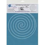 Full Line Stencil Large Spiral by Hancy Full Line Stencils Pounce Pads & Quilt Stencils - OzQuilts