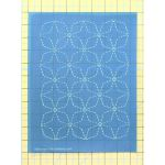 Full Line Stencil Sashiko Stitch Angled 7 Treasures by Hancy Full Line Stencils Pounce Pads & Quilt Stencils