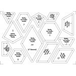 The New Hexagon 34 Piece Template Set by OzQuilts Custom Quilt Template Sets - OzQuilts