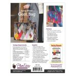 Dancing Diamonds Gem Bag Pattern including interfacing by PlumEasy Patterns Bag Patterns - OzQuilts