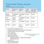 Fold N Stitch Holiday Accents Pattern by PoorHouse Quilt Designs Christmas - OzQuilts