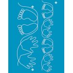 Full Line Stencil Baby Hands And Feet 2-1/4in & 4-1/4in by Hancy Full Line Stencils Pounce Pads & Quilt Stencils - OzQuilts