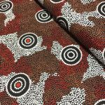 Amicitia in Black Australian Aboriginal Art Fabric by Audrey Martin Napanangka by M & S Textiles Cut from the Bolt - OzQuilts