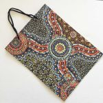 Wild Bush Flowers Aboriginal Art Bag by Layla Campbell by M & S Textiles Tote Bags - OzQuilts