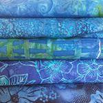 Bali Batik Blue Pack 5 Fat Quarters by Benartex Pre-Cut Fabrics