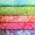 Bali Batik Lights Pack 5 Fat Quarters by Benartex Pre-Cut Fabrics