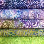 Bali Batik Green & Purple Pack 5 Fat Quarters by Benartex Fat Quarter Packs - OzQuilts