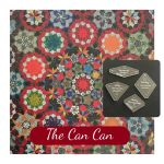The Can Can Template Set from Millefiori Quilts 3- Traditional Set in Original Size by OzQuilts Millefiori Book 3  - OzQuilts