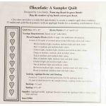 Chocolate : A Sampler Quilt by From My Heart To Your Hands Applique - OzQuilts