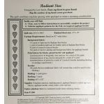 Radiant Star by From My Heart To Your Hands Applique - OzQuilts