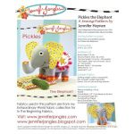 Pickles the Elephant Softie Sewing Pattern by Jennifer Jangles Clothing & Toys - OzQuilts