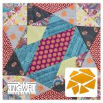 Aireys Tempter Patchwork Quilt Block Template set by Jen Kingwell Designs by Jen Kingwell Designs Jen Kingwell Designs Templates - OzQuilts