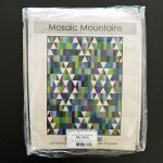 Mosaic Mountains 6.9 yards Kona Cotton Quilt Kit - Cool Colourway by Robert Kaufman Fabrics Quilts Kits - OzQuilts