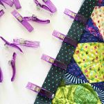 Quilter's Binding Clips - 12 Purple Clips by OzQuilts Wonder Clips & Hem Clips - OzQuilts