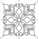 Full Line Stencil Majestic Block by Hancy Full Line Stencils Pounce Pads & Quilt Stencils - OzQuilts