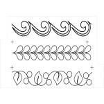Full Line Stencil Border Assortment 3x by Hancy Full Line Stencils Pounce Pads & Quilt Stencils - OzQuilts