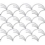 Full Line Stencil Sashiko Stitch Grass by Hancy Full Line Stencils Pounce Pads & Quilt Stencils - OzQuilts