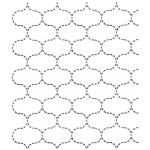 Full Line Stencil Sashiko Stitch Fish Net by Hancy Full Line Stencils Pounce Pads & Quilt Stencils