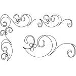 Full Line Stencil Along The Way 2-1/2in & 4in by Hancy Full Line Stencils Pounce Pads & Quilt Stencils - OzQuilts
