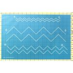 "Full Line Stencil Chevron Border - 1"", 2"" & 3.5"" by Hancy Full Line Stencils Pounce Pads & Quilt Stencils - OzQuilts"