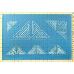 Full Line Stencil Little Triangles by Hancy Full Line Stencils Pounce Pads & Quilt Stencils - OzQuilts