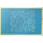 Full Line Stencil Wild Swirls By Anne Bright by Hancy Full Line Stencils Pounce Pads & Quilt Stencils - OzQuilts