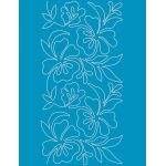 Full Line Stencil Blooming Things 8-1/2in by Hancy Full Line Stencils Pounce Pads & Quilt Stencils - OzQuilts